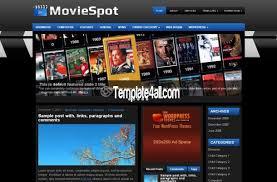 Wordpress Movie Theme Free Blue Black Movies Wordpress Theme Template