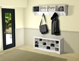 Shoe Rack And Coat Hanger White Entry Bench With Storage White Wooden Entryway Storage Bench 36