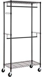 Rolling Coat Rack With Shelf Amazon Finnhomy Sturdy Shelving Garment Rack Rolling Clothes 74