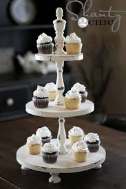 diy shabby chic cupcake tower elegant diy tiered cake stand ideas for the holidays
