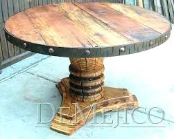 rustic wood round dining table furniture remarkable reclaimed detailed view melbourne