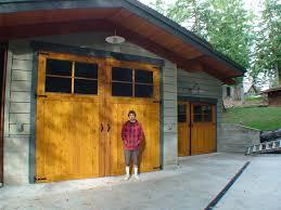 fiberglass swing out garage doors non