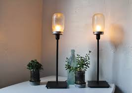 jar lighting fixtures. 2 FROSTED Mason Jar Desk Or Table Lamps - Upcycled Lighting Fixtures Minimalist Modern Industrial C