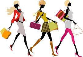 Hasil gambar untuk wanita hobi belanja online