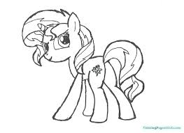 Mlp Coloring Pages Fluttershy At Getcoloringscom Free Printable