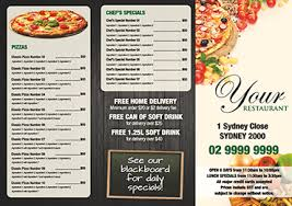Menu Printing Free Menu Templates For Restaurants And Cafes