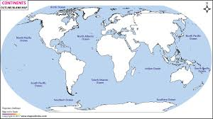 World Continents Outline Map Continents Blank Map