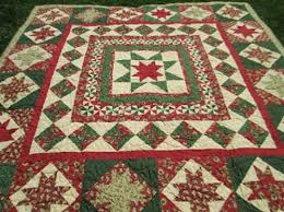 Christmas Quilt Green Red Quilt Medallion Quilt 90