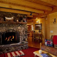 log cabin with beautiful stone fireplace log homes inside out stone fireplaces log cabins and a log