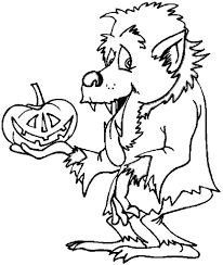 Small Picture Halloween Werewolf coloring pages for Kids Nice Coloring Pages