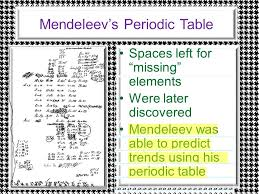 Notes: Chemical Periodicity. Dmitiri Mendeleev ( ) The first to ...
