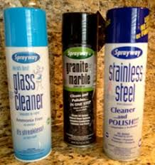 Sprayway Brand Cleaner Review. cans of Sprayway cleaners