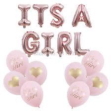 Us 2 12 18 Off Its A Girl Balloon Pink Girl Shower Balloons Rose Gold Its A Girl Banner Baby Shower Decorations Girl Shower Balls In Ballons