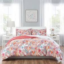 nicole miller kids 7 piece queen multi paisley comforter set