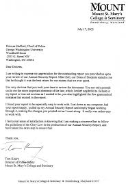 University Of Houston Recommendation Letter About Clery Act Training Campus Safety D Stafford Associates