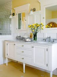 Image Brown We Love This Sunny Yellow Bathroom More Bathroom Color Schemes Http Pinterest Stylish Bathroom Color Schemes Beautiful Bathrooms Pinterest