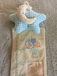 Details About Baby Fleece Watch Me Grow Embroidered Height Chart Moon Stars Photo Pockets