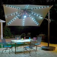 island umbrella santorini ii fiesta 10 ft square cantilever patio umbrella in stone sunbrella acrylic
