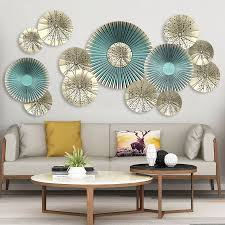 For a more traditional space, try metal. Creative 115 58cm 3d Fan Wall Art Decals European Style Living Room Home Decor Vinyl Bedroom Decoration Posters Wallpaper Wall Stickers Aliexpress