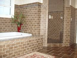 Custom Tiled Soaking Tub with Separate Walk-In Shower