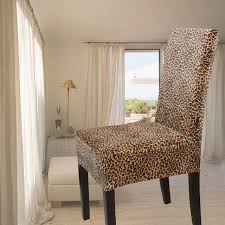 gold velvet leopard print all inclusive one piece chair cover dining chair set professional customize