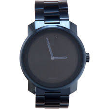 movado men s watches new used luxury vintage movado bold black dial blue pvd men s watch 3600296