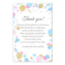Baby Card Notes Details About 30 Thank You Card Notes Baby Shower Unisex Pink Blue Confetti Glitter Gold