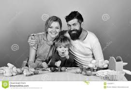 Man Woman And Son Together Joyful Family And Celebration Concept