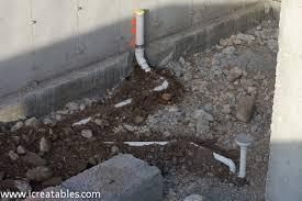 new home underground plumbing