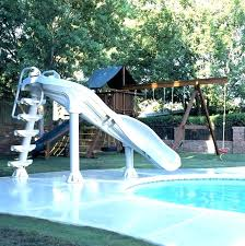 pool slide paint s fiberglass cement swimming rock