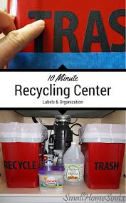 Kitchen Recycling Center Create A New Kitchen Recycling Center In 10 Minutes Small Home Soul