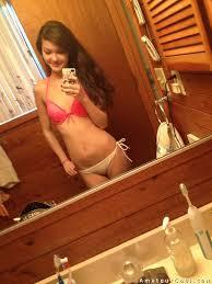 Brunette teen girlfriend striptease