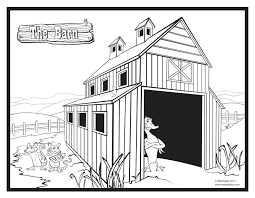 Barn Coloring Pages Remarkable To Print Page C 23209 Unknown New