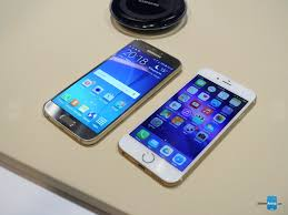 samsung galaxy s6 gold vs iphone 6 gold. display. the display is window to your smartphone\u0027s potential. samsung galaxy s6 and iphone 6 gold vs iphone b