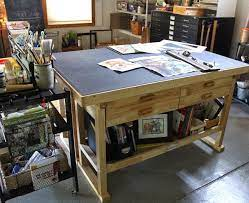 work table for your art studio