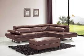 Leather Sectional Living Room 26 Abbyson Living Devonshire Premium Top Grain Leather Sectional