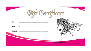 spa gift certificate template 1 beauty free salon
