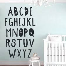 wall decal letters for nursery cute alphabet print vinyl sticker bedroom typography baby shower decor stickers