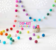 diy garland kit felt ball garland diy kit colorful garland felt pom poms garland party decor garland 7 felt ball garland diy