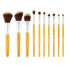 10 professional pink set beaute basics makeup brush