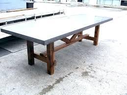 concrete outdoor dining table sydney diy top nz round square cement concrete top dining table diy