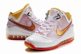 lebron james shoes white and gold. nike air max lebron vii shoes white red gold james and -