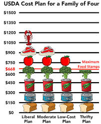 Food Stamp Price Chart Food Stamps The Cost Of Living Voices Of Welfare