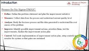The Dmaic Approach 5 Phases Of Six Sigma