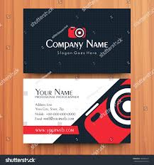 Two Sided Presentation Professional Business Visiting Stock Vector