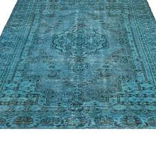 turquoise carpet to enlarge decorating over dyed vintage rug