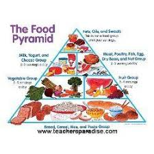 Food Group Pyramid Chart The Food Pyramid Chart
