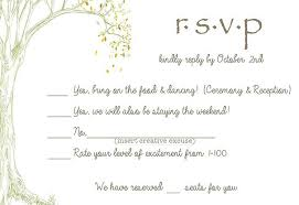 Rsvp Card Examples Funny Wedding Invitations 1 Invitational Cup