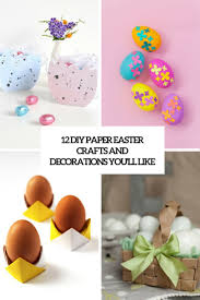 12 diy paper easter crafts and decorations you ll love