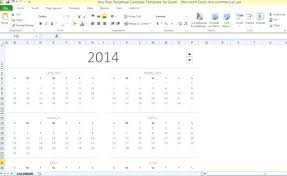 Any Year Perpetual Calendar Template For Excel 1 2013 Powerpoint